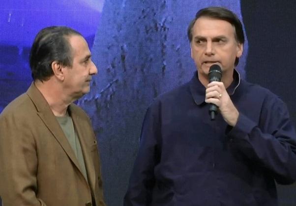 Pastor Silas Malafaia e Bolsonaro (Foto: Reprodução/YouTube)