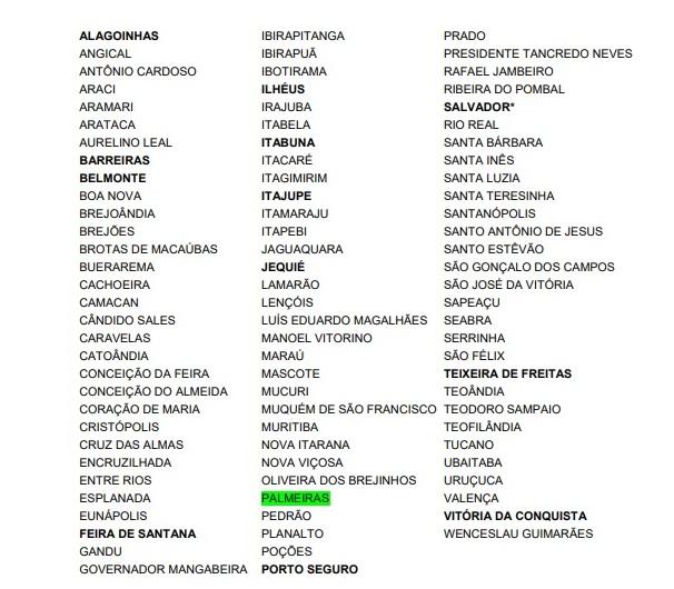municípios verde