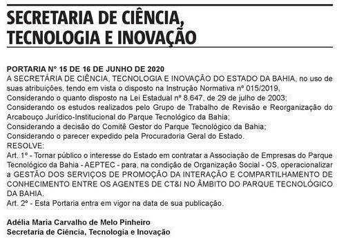 Foto: Reprodução/Diário Oficial do Estado-BA