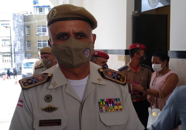 Comandante-geral da PM-BA, coronel Anselmo Brandão (Foto: Matheus Morais/bahia.ba)