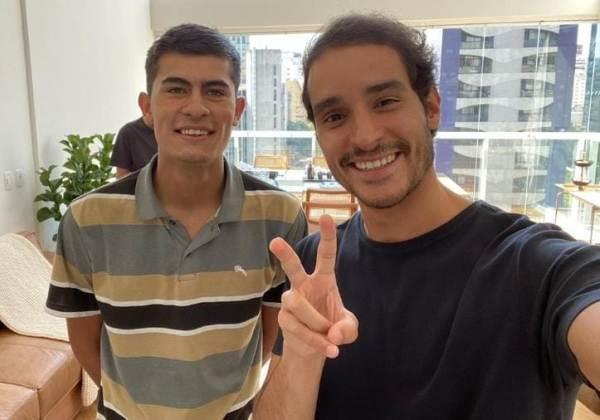 Matheus Pires ao lado de Rapha Avellar. Foto: Reprodução/Instagram