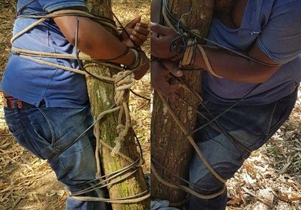 Motorista de aplicativo é encontrado amarrado à árvore após sequestro 2
