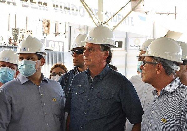 Bolsonaro em vista ao Amapá (Foto: Ministério de Minas e Energia)