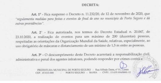 Decreto revoga realização de megaeventos e limita público de até 200 pessoas por festa
