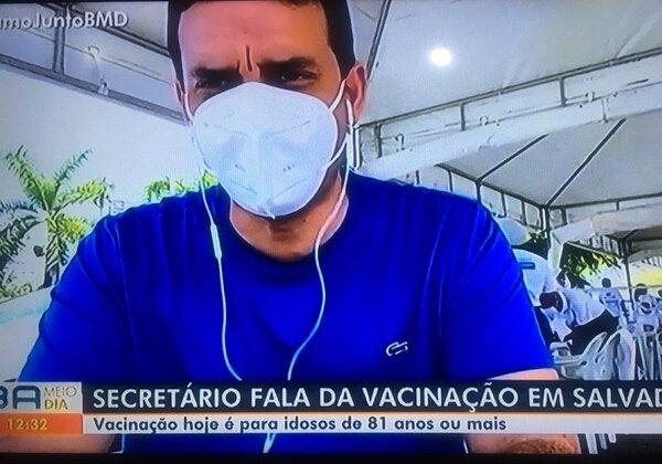 Leo Prates, secretário de Saúde de Salvador (Imagem: Reprodução/TV Bahia)