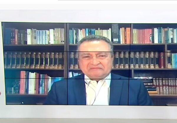 Governador Rui Costa (PT) em entrevista à TV Bahia (Imagem: Reprodução/TV Bahia)