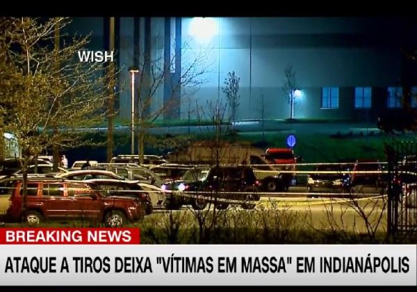 Porta-voz da polícia disse que o atirador se matou em seguida (Imagem: Reprodução/CNN Brasil)