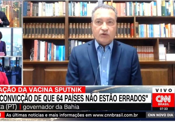 Rui Costa (PT), governador da Bahia (Imagem: Reprodução/CNN)
