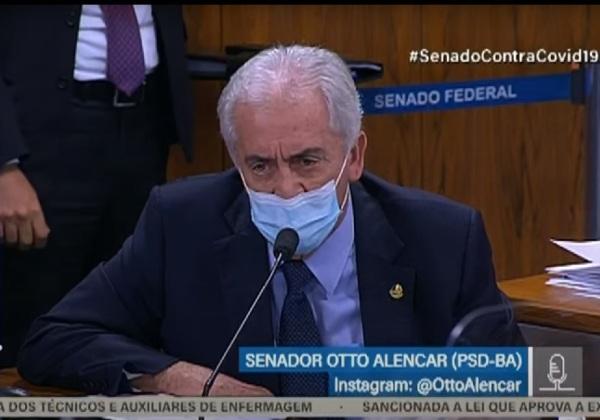 Senador Otto Alencar (PSDBA) durante a CPI da Covid (Imagem: Reprodução/TV Senado)