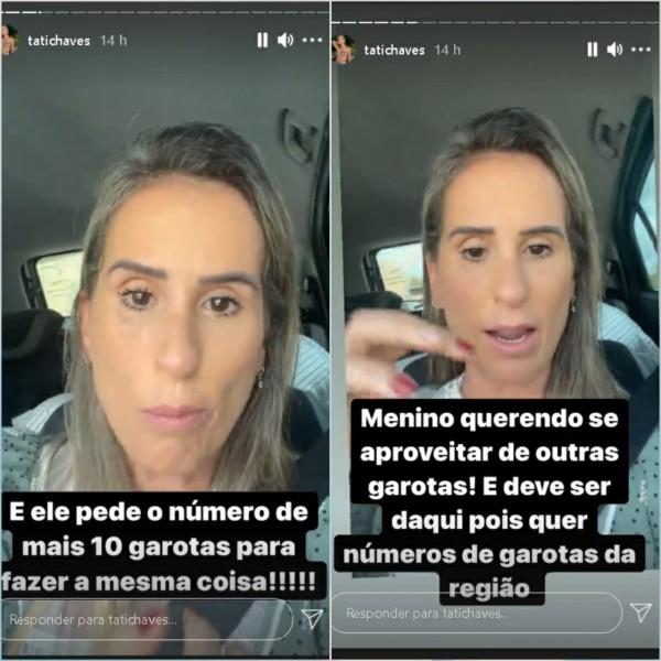 Reprodução redes sociais / Tatiana Chaves